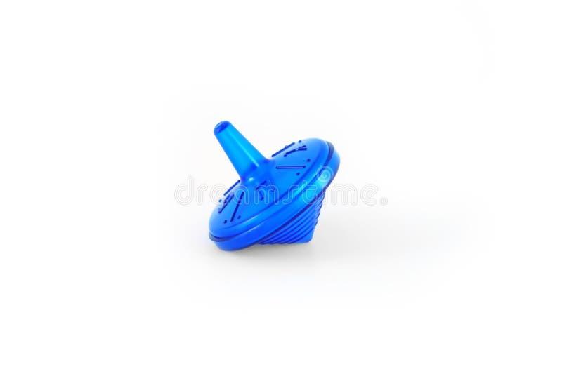Dreidel blu immagini stock