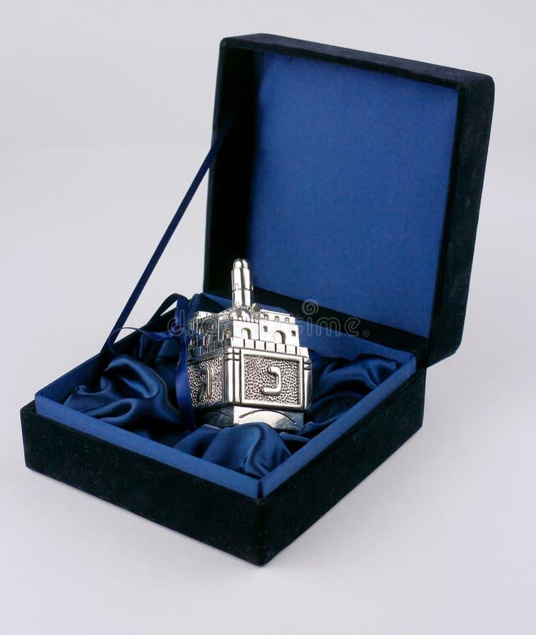Dreidel d'argento fotografia stock libera da diritti