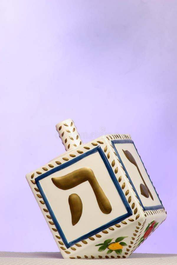 Dreidel de Chanukkah imagenes de archivo