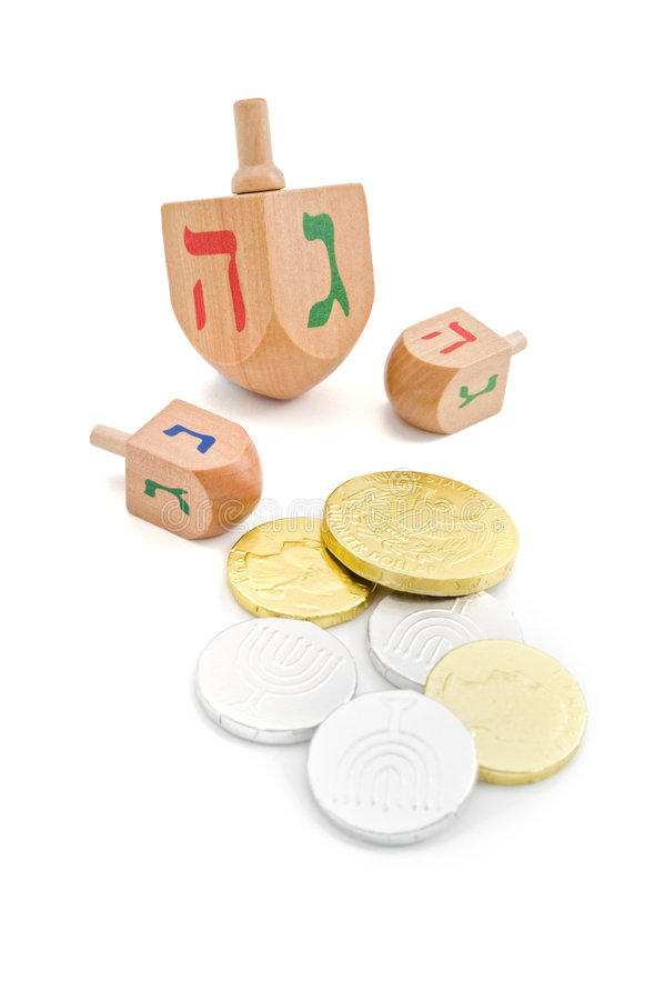 Download Dreidel And Gelt Stock Photo - Image: 6461120