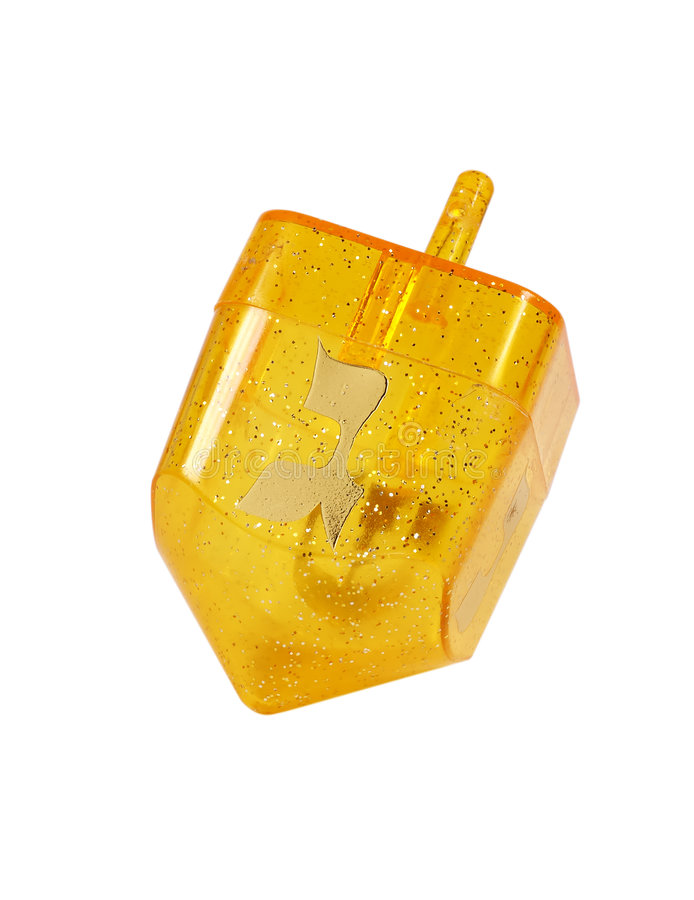 Dreidel giallo fotografia stock