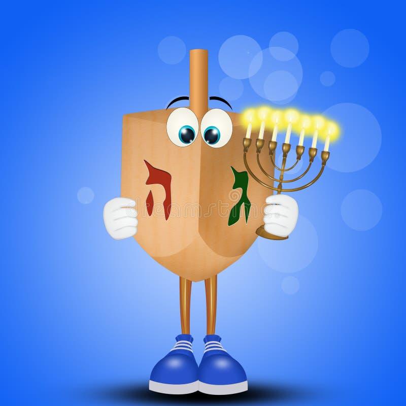 Dreidel para o Hanukkah ilustração do vetor