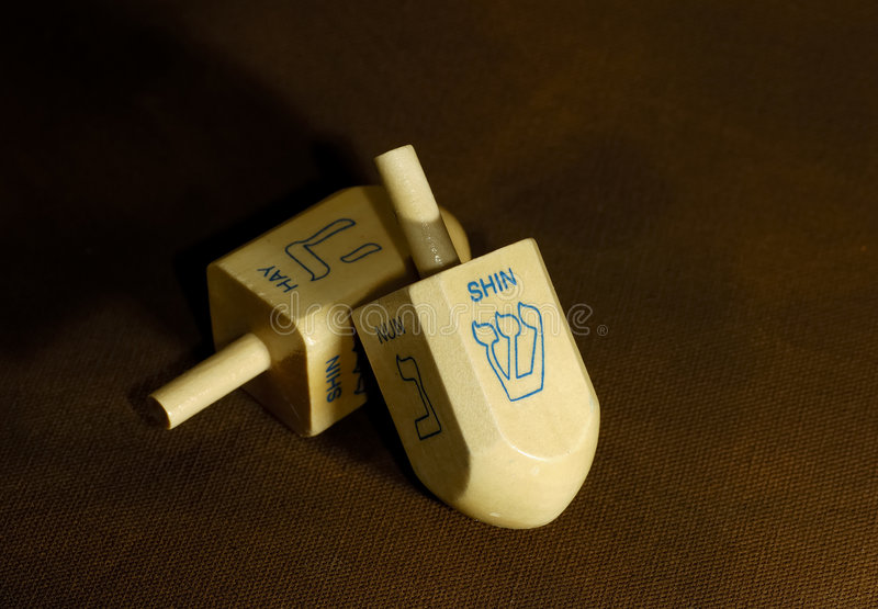 Dreidels stock photos