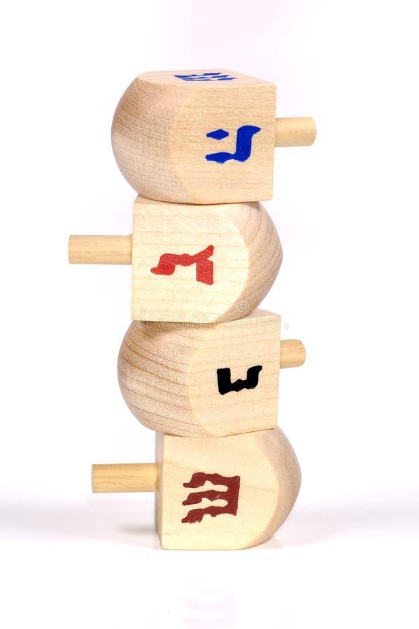 Dreidels de madeira foto de stock