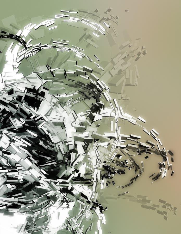 Dreidimensionale Abbildung lizenzfreie abbildung
