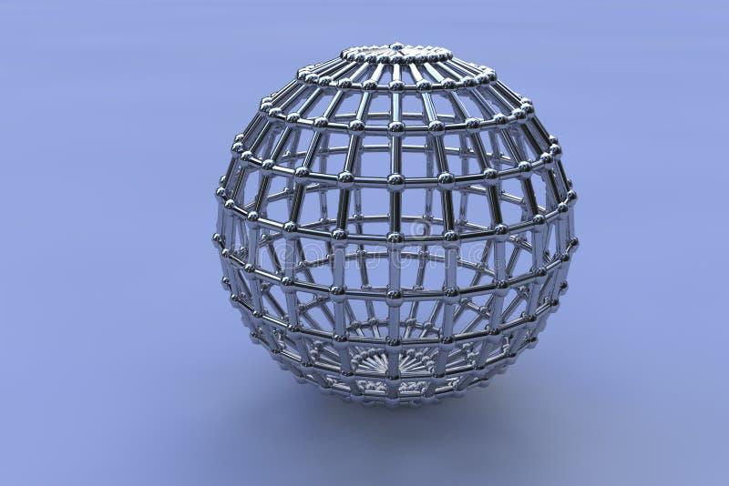 Dreidimensionale Chromkugeln stock abbildung