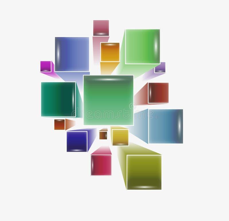 Dreidimensionale Quadrate stock abbildung