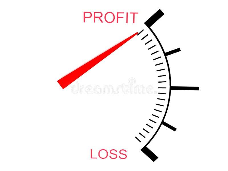 Dreidimensionaler Verlust und Profitlehre lizenzfreie abbildung