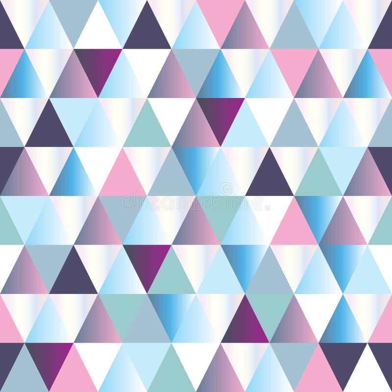 Dreieck-Auszugsmuster der Diamanten nahtloses stock abbildung