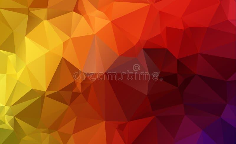 Dreieck-Blaufarbe des Olygonal-Zusammenfassungshintergrundes bestehende stock abbildung