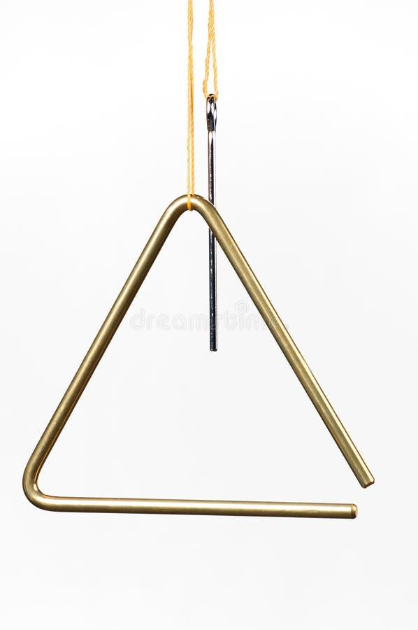 Dreieck getrennt auf Weiß stockfotografie