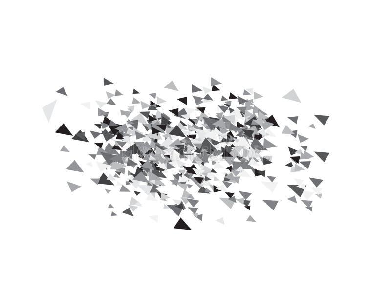 Dreieck-Konfetti-Hintergrund stock abbildung
