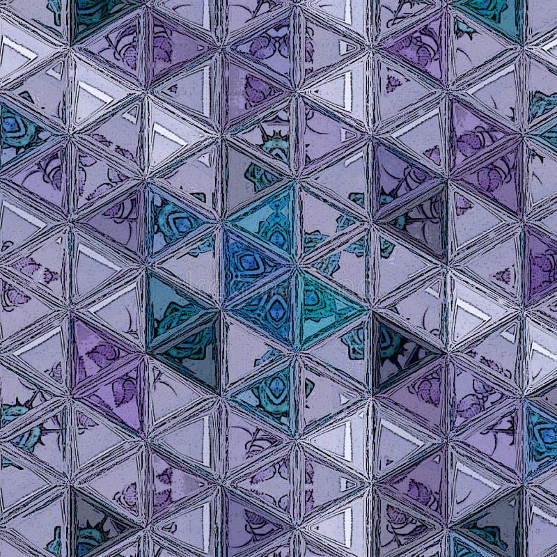 Dreieck-Muster E vektor abbildung