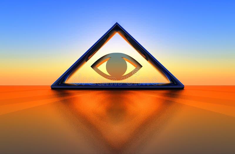 Dreieck und Auge lizenzfreie abbildung