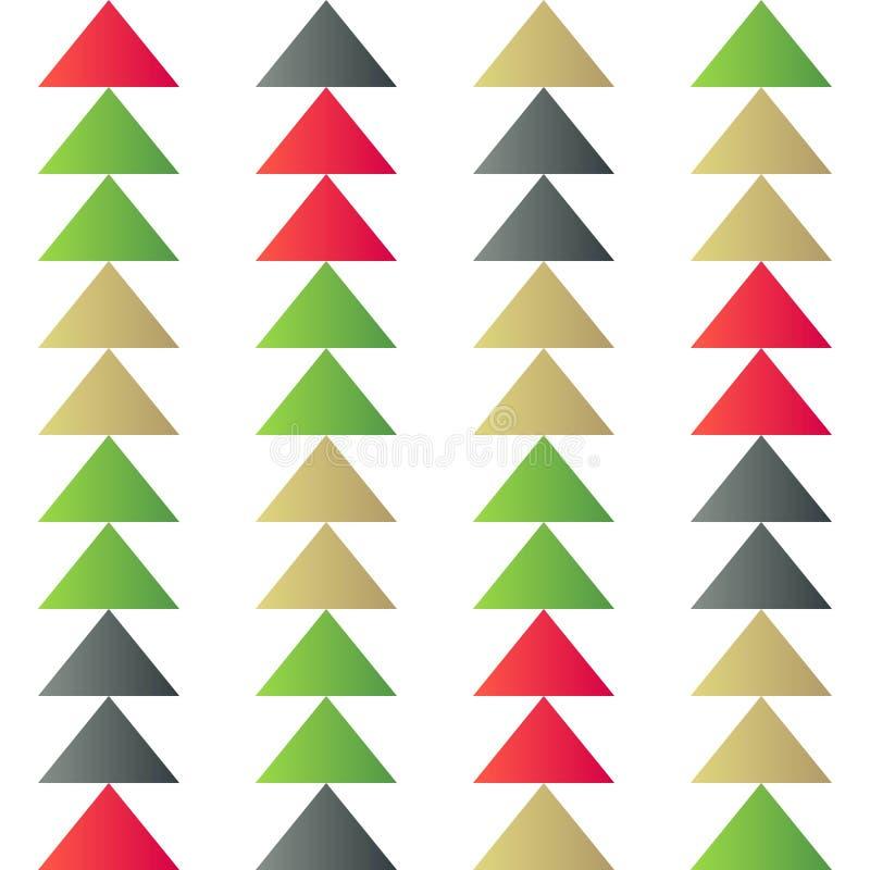 Dreieck-Weihnachtsbaumthema, Weihnachtsnahtloses Muster für Gebrauch als Packpapiergeschenk, Tapete oder Hintergrund vektor abbildung