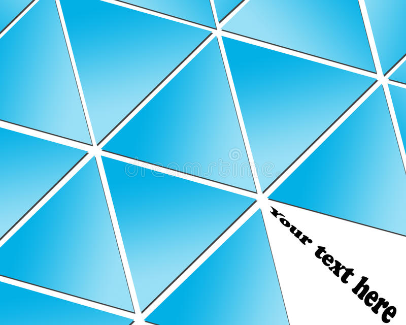 Dreieckauslegung für Sie Web site stock abbildung