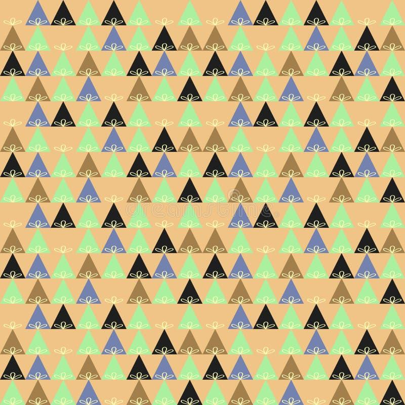 Dreiecke von hellblauem und von dunkelblauem mit Blumenverzierungen auf einem hellen Hintergrund vektor abbildung