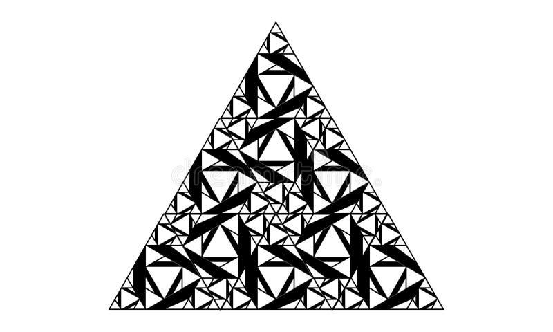 Dreieckform gemacht von den kleineren Dreiecken stockfoto