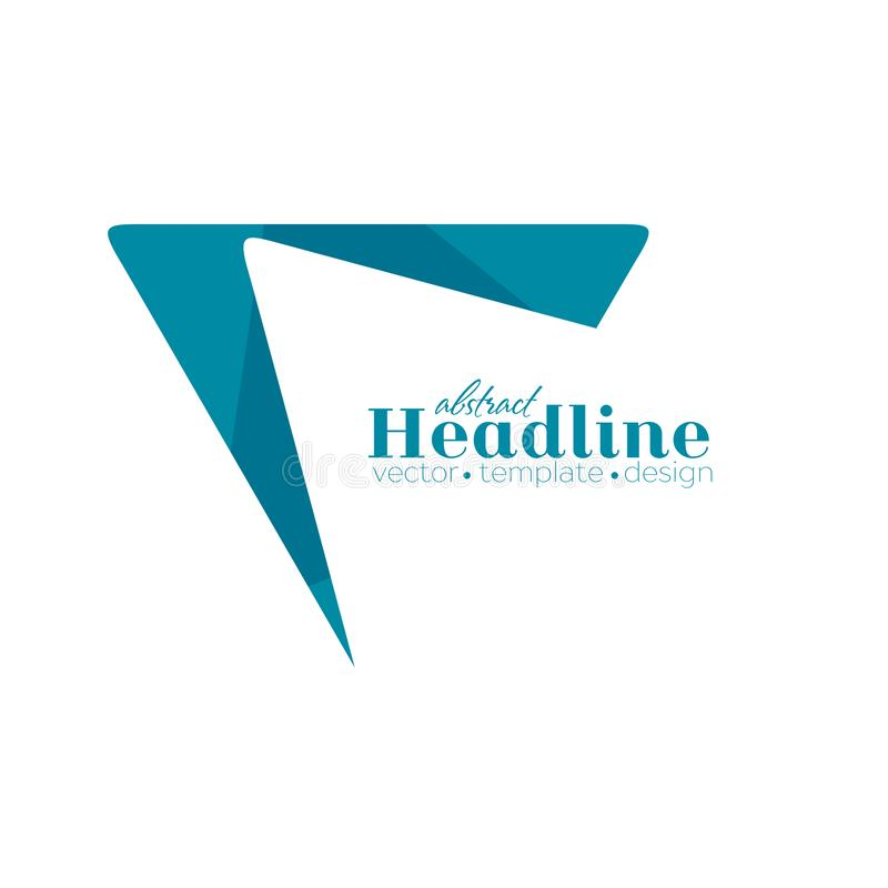 Dreieckform-Logoentwurf der Zusammenfassung blauer minimaler lizenzfreie abbildung