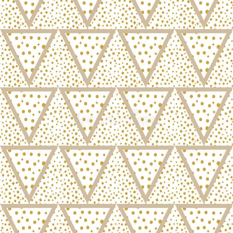Dreieckhintergrund mit Gold punktiert nahtloses lizenzfreie stockfotografie
