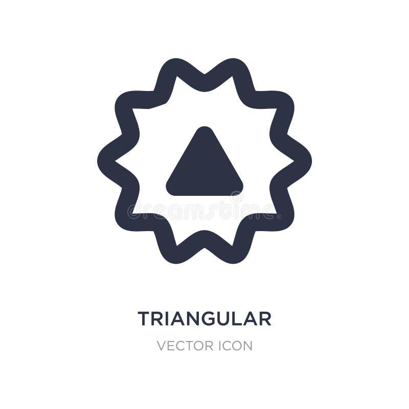 Dreieckige Ikone auf weißem Hintergrund Einfache Elementillustration von UI-Konzept vektor abbildung