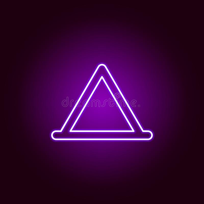 dreieckige Zeltentwurfsikone in der Neonart Elemente der Autoreparaturillustration in der Neonartikone Zeichen und Symbole k?nnen lizenzfreie abbildung