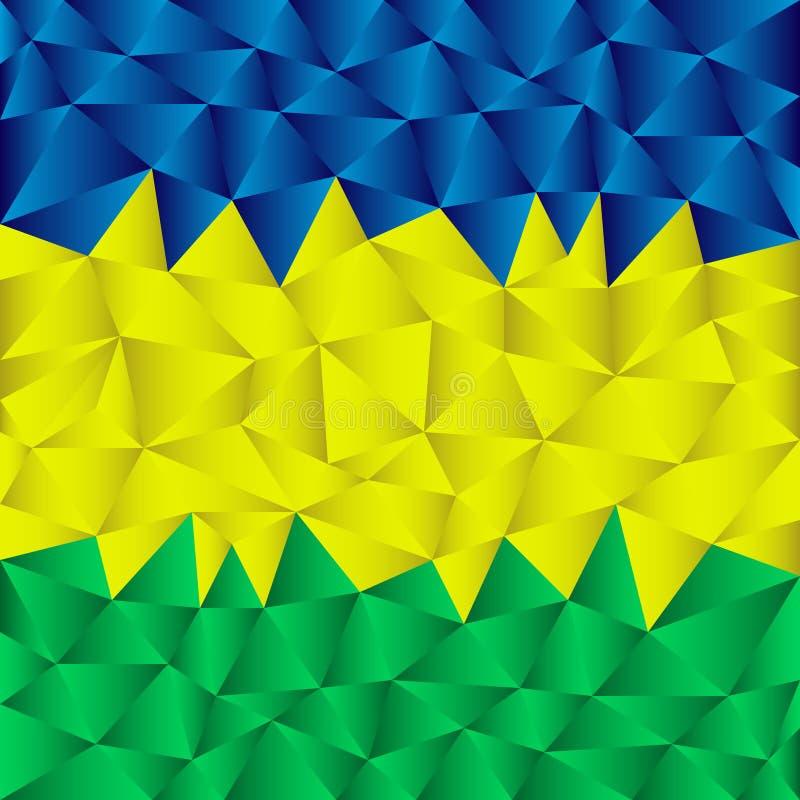 Dreieckiger Brasilien-Hintergrund stock abbildung