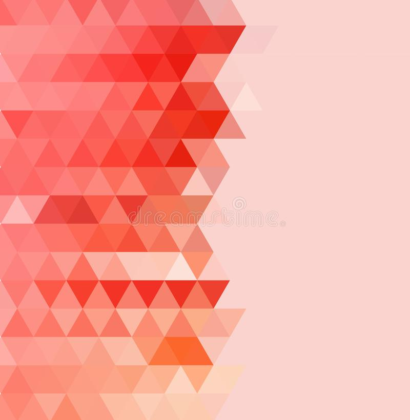 Dreieckiger Hintergrund des Rotes und der Orang-Utan-Farbe Abstrakte Abbildung stock abbildung