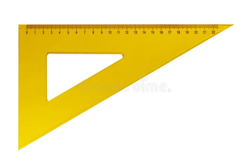 Dreieckiger Plastikmachthaber - gelb lizenzfreies stockbild