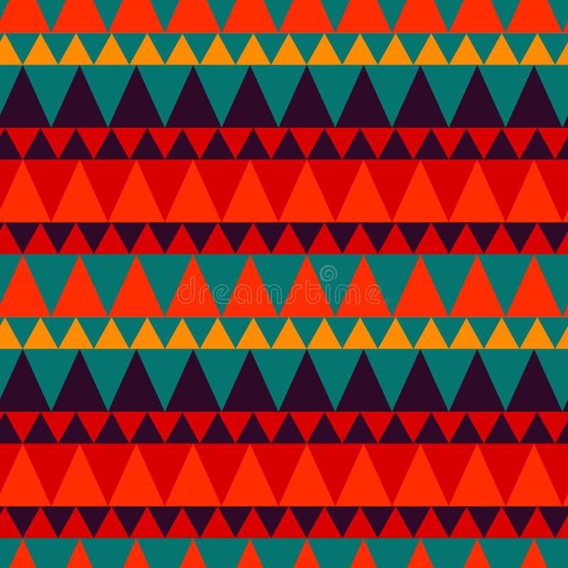 Download Dreieckiger Waldgebirgsnahtloses Muster Vektor Abbildung - Illustration von auszug, scharf: 106802017