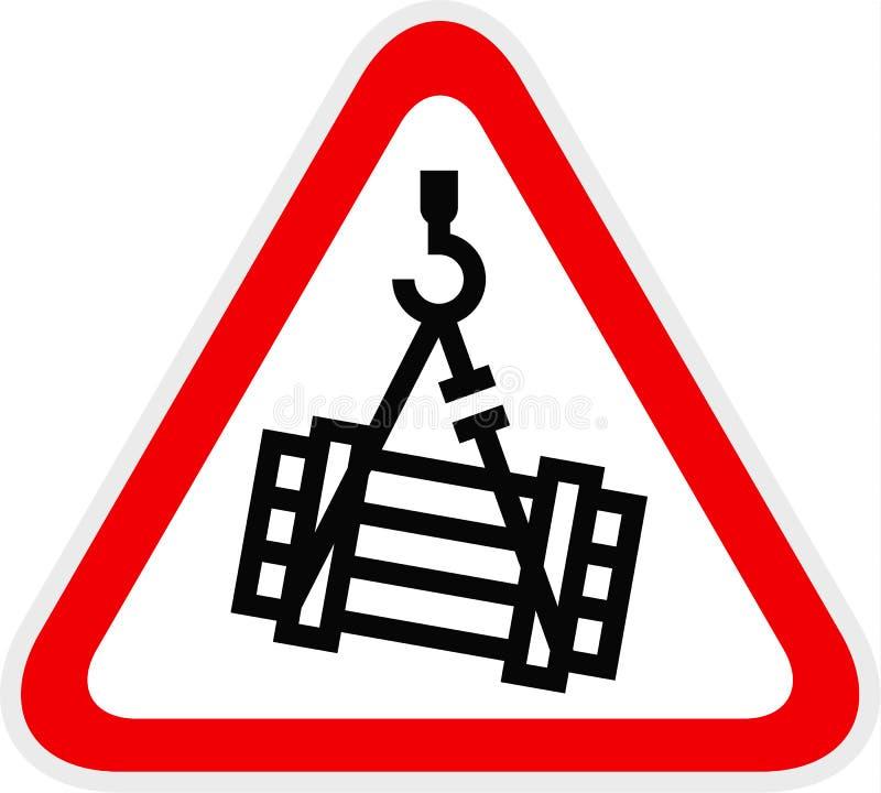 Dreieckiges gelbes warnendes Gefahrensymbol stock abbildung