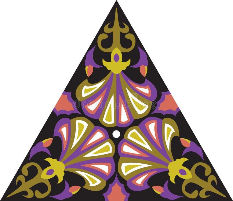 Dreieckiges Muster der orientalischen traditionellen Blume des Vektors lizenzfreie abbildung