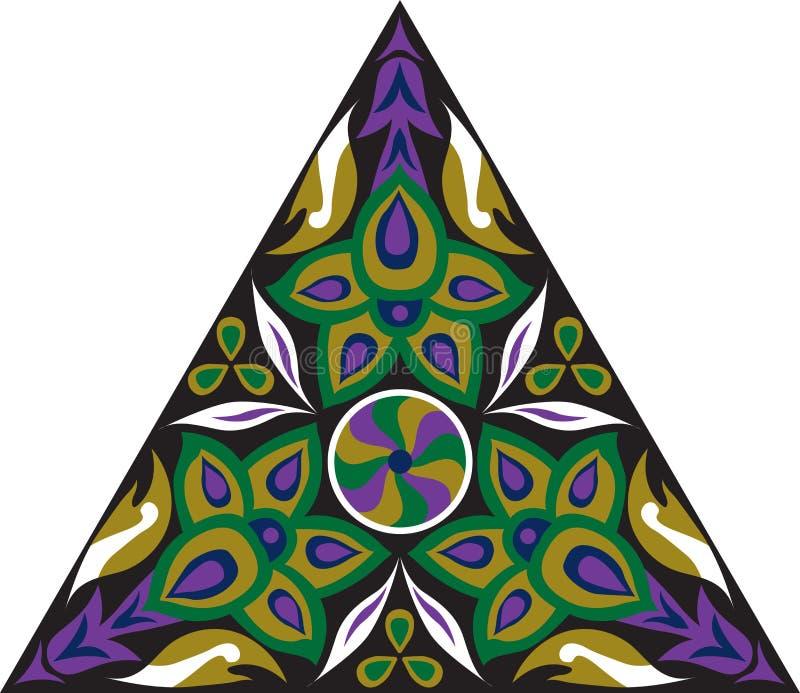 Dreieckiges Muster der orientalischen traditionellen Blume des Vektors vektor abbildung