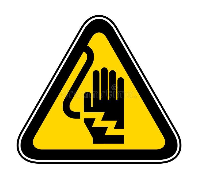 Dreieckiges warnendes Gefahrensymbol lizenzfreie abbildung