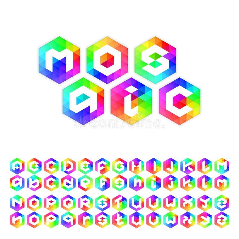 Dreieckmosaikguß stellte für Ikonen, apps oder Logodesign ein lizenzfreie abbildung