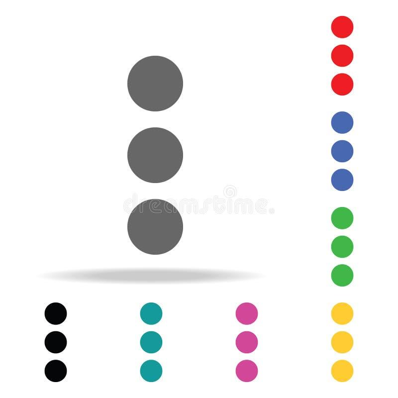 Dreifache Punkte Drei Punkte ikone Elemente in den multi farbigen Ikonen für bewegliche Konzept und Netz apps Ikonen für Website  vektor abbildung