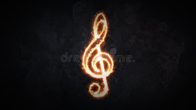 Dreifacher Clef Das Konzept des Tones Zeichen des Violinenschlüssels flammt 26 stockbilder