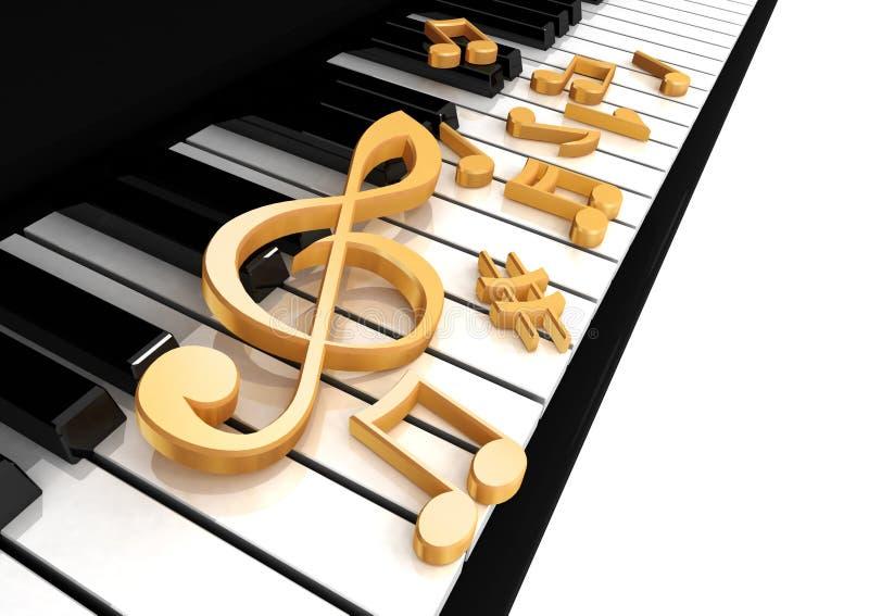 Dreifacher Clef ist auf dem Klavier stock abbildung