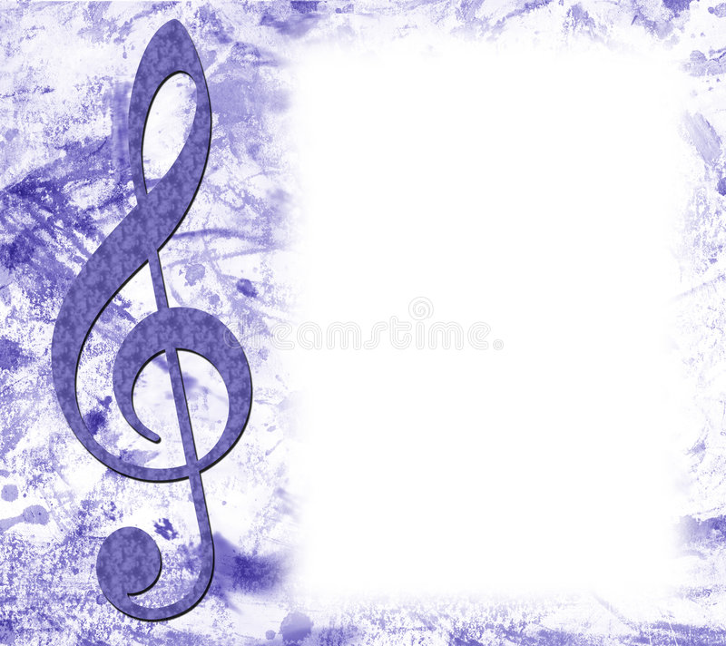 Dreifacher Clef-Musikal-Plakat lizenzfreie stockfotografie