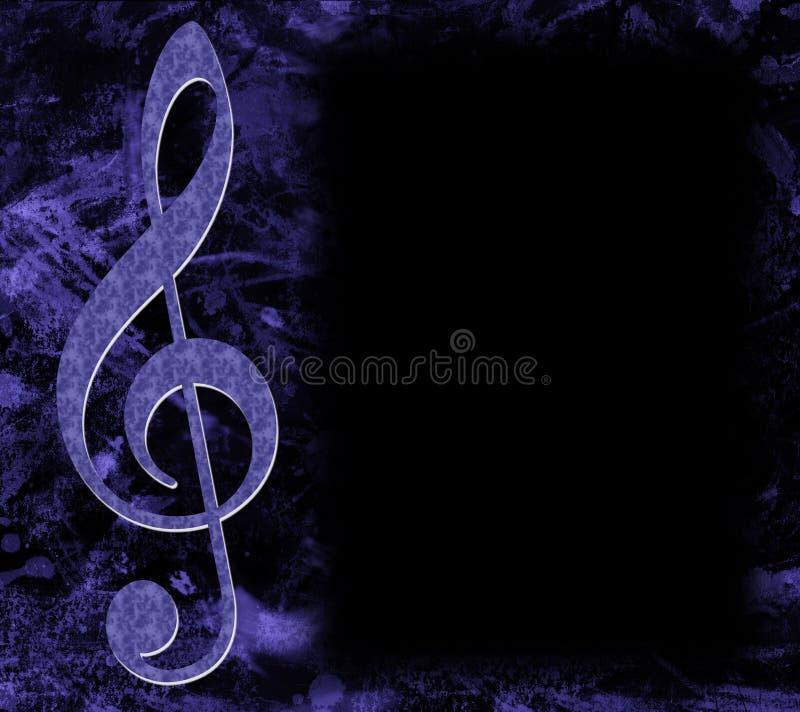 Dreifacher Clef-Musikal-Plakat lizenzfreies stockbild