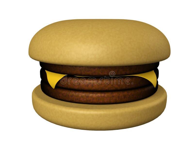 Dreifacher Deckerburger lizenzfreie abbildung