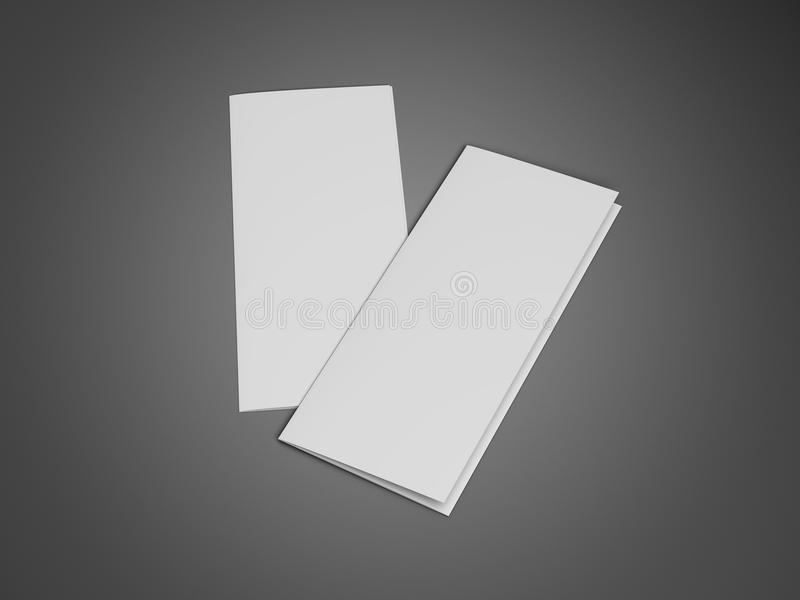 Dreifachgefalteter Broschüren-Broschüren-Zickzack gefaltet stock abbildung