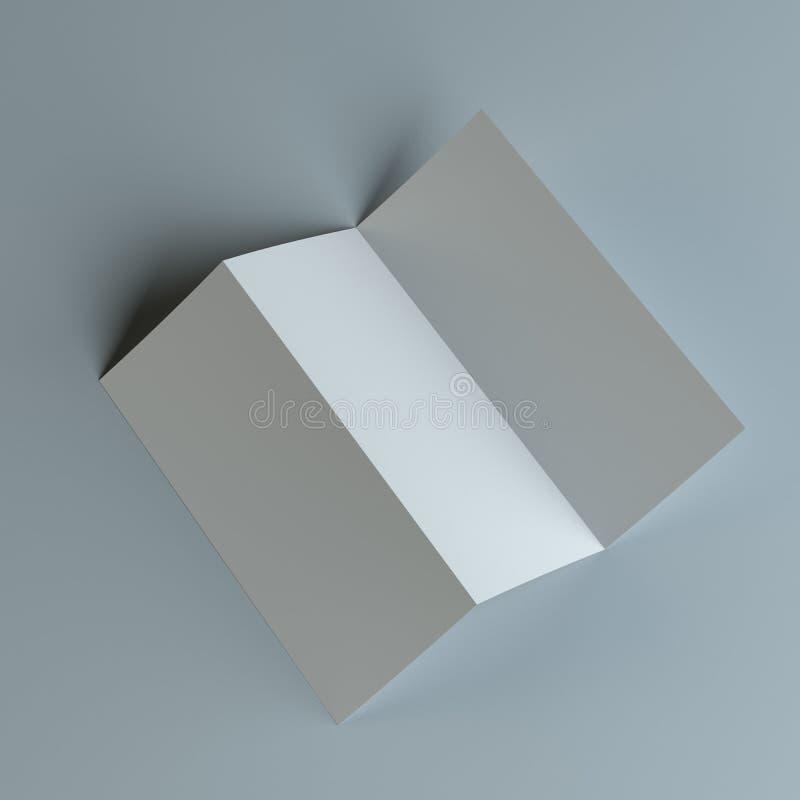 Dreifachgefalteter Broschüren-Broschüren-Zickzack gefaltet vektor abbildung