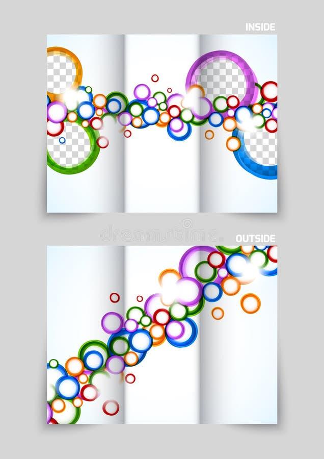 Dreifachgefaltetes Broschürenschablonendesign vektor abbildung