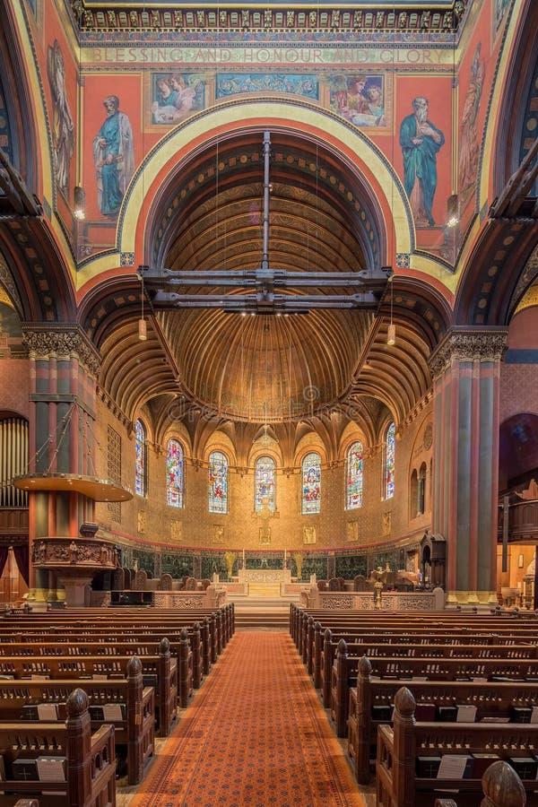 Dreifaltigkeitskirche, Copley-Quadrat, Boston stockbilder