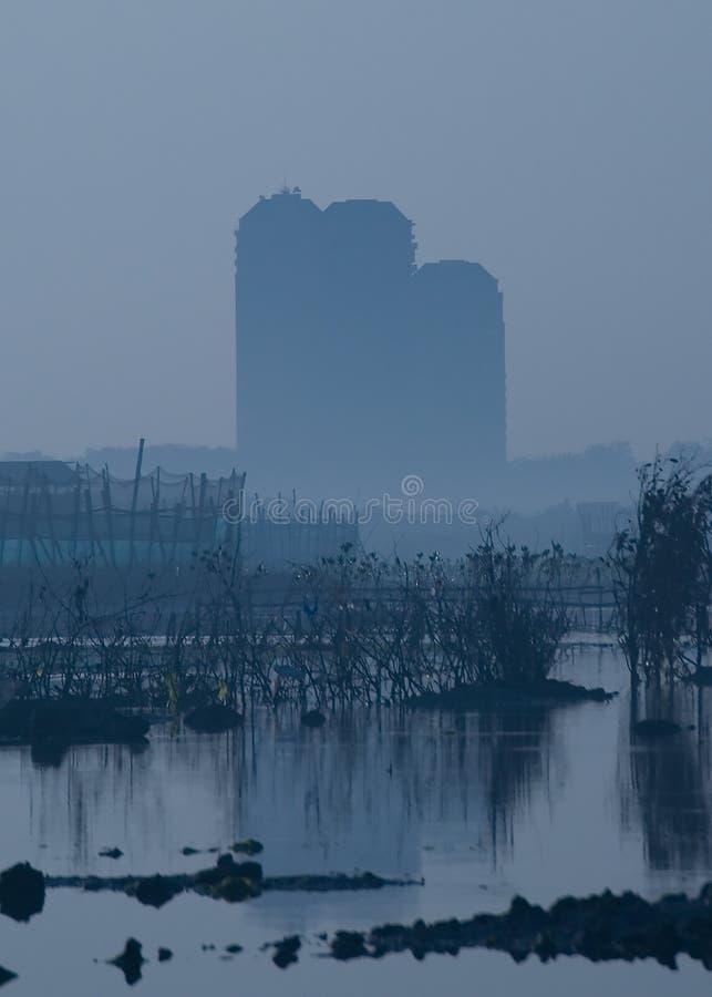 Dreigende Urbanisatie stock afbeeldingen