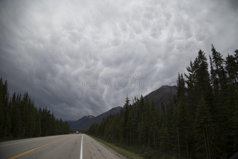 Dreigende wolken royalty-vrije stock fotografie