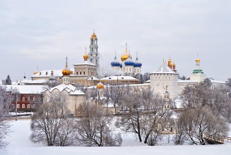 Dreiheit Lavra des Heiligen Sergius, Russland lizenzfreie stockfotos