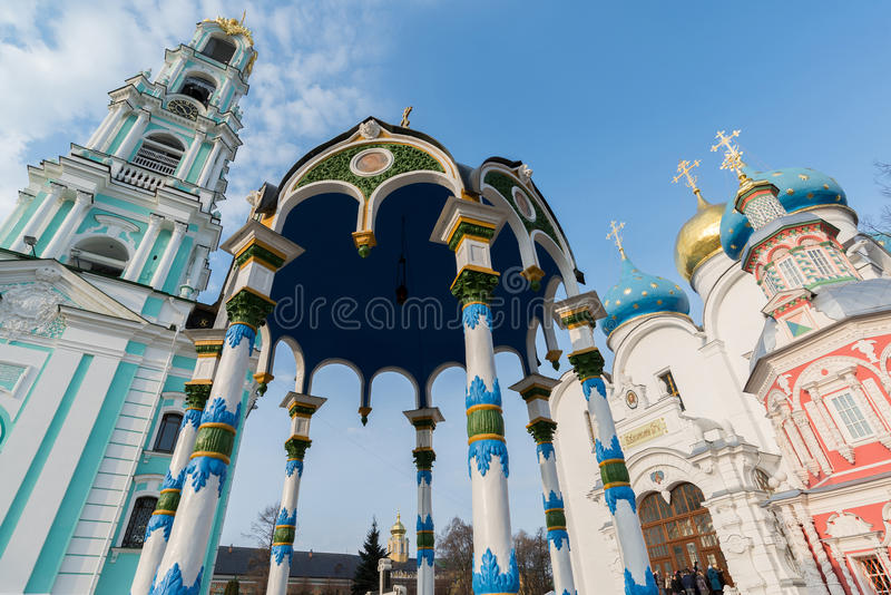 Dreiheit-Sergius Lavra in Sergiev Posad, Russland lizenzfreies stockfoto