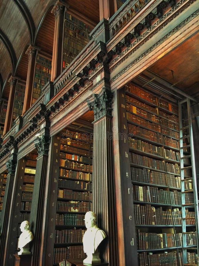 Dreiheits-College-Bibliothek Dublin Ireland lizenzfreies stockbild